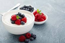 Healthy Greek Yogurt Bowl With Berry
