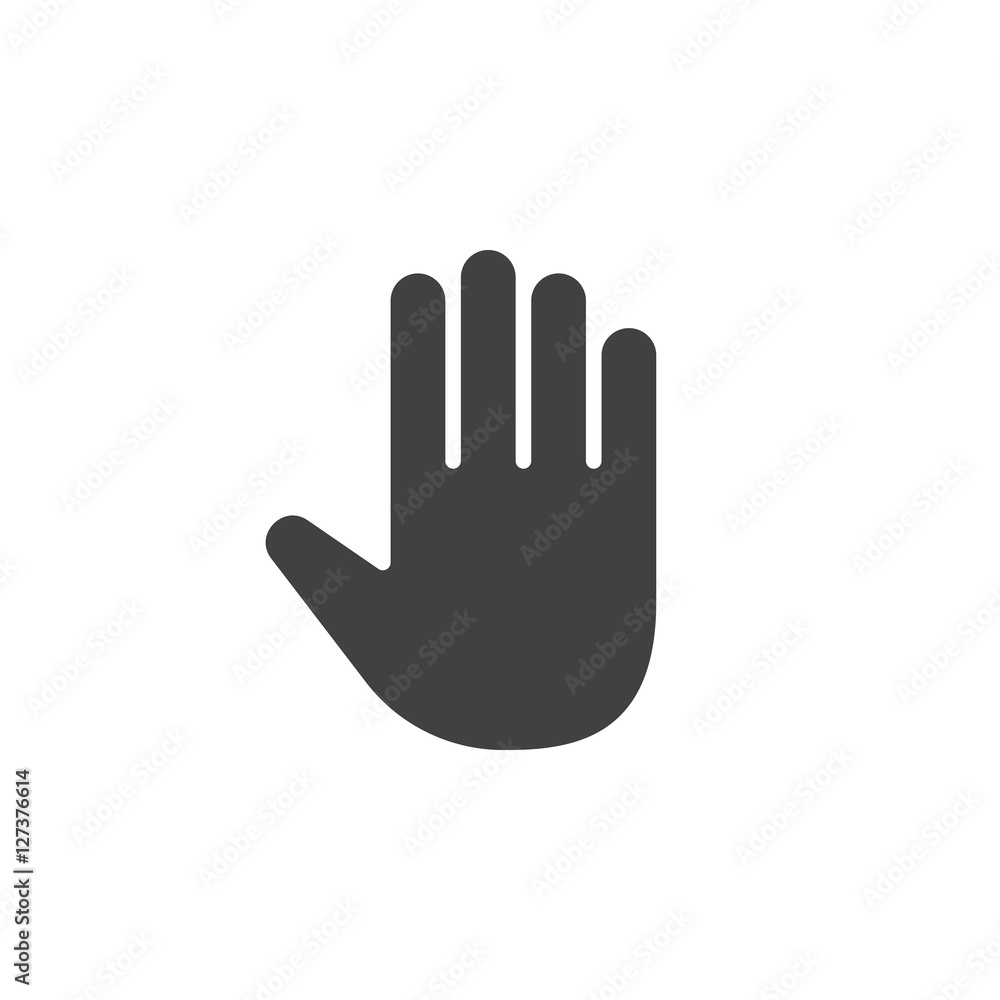 Fototapety, obrazy: Palm, Hand icon vector, filled flat sign, solid pictogram isolated on white, logo illustration