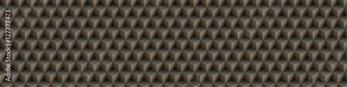 3d illusion of yellow seamless cubes pyramid, abstract pattern. Digital illus...