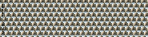 3d illusion of yellow seamless cubes pyramid, abstract pattern, digital art w...