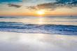 Bright sunrise over on the beach