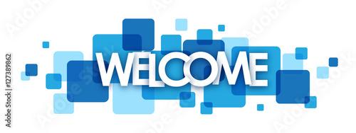 "Fotografie, Obraz  ""WELCOME"" overlapping letters vector banner"