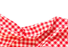 Picnic Cloth Frame Isolated.