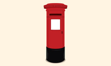 British Postbox - Red Mail Box...