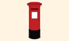 British Postbox - Red Mail Box...