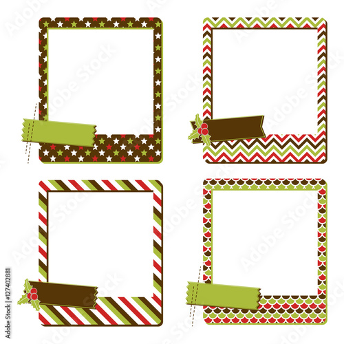 Collection of four Christmas instant photo frames with different ...