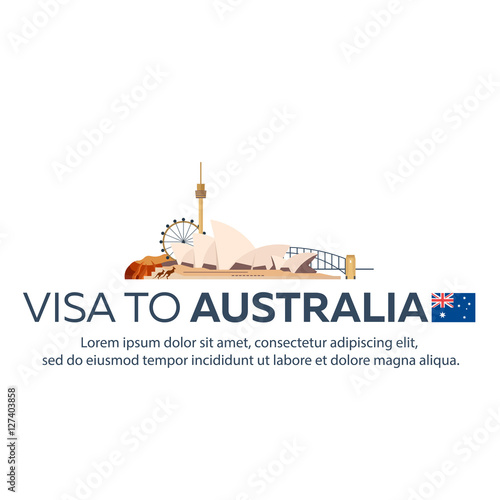 Visa to Australia Canvas-taulu