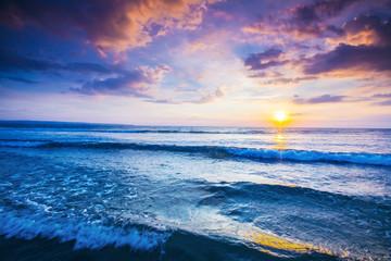 Fototapeta piękny zachód słońca