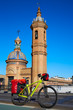 Via de la plata bike at Isabel II bridge Triana Seville
