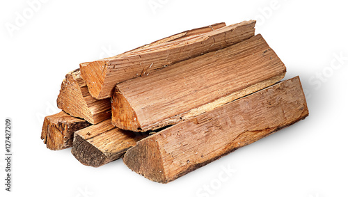 Cuadros en Lienzo Pile of firewood rotated