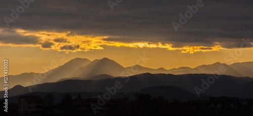 Fotografia, Obraz  Isernia, tramonto