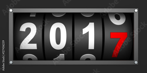 Photographie  2017 New year countdown timer - 3d render
