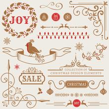 Christmas Design Elements. Vec...