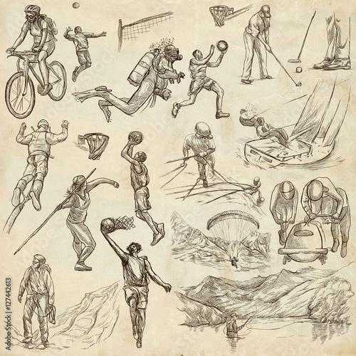 Foto op Plexiglas Art Studio Sport - collection of an hand drawn illustrations