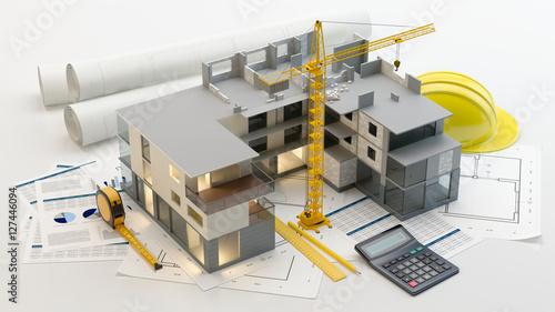 Apartment construction - fototapety na wymiar