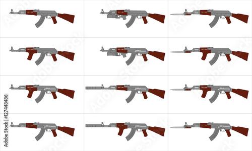 Photo  Vetor - Automatic Rifle