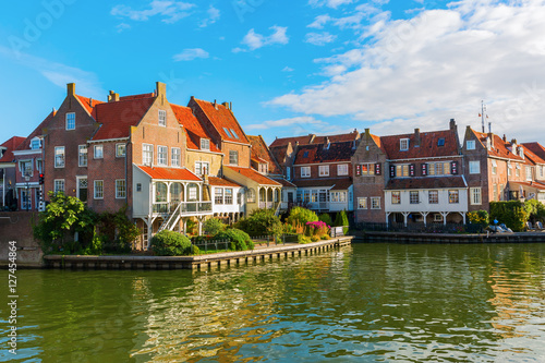 Printed kitchen splashbacks City on the water picturesque scene in Enkhuizen, Netherland