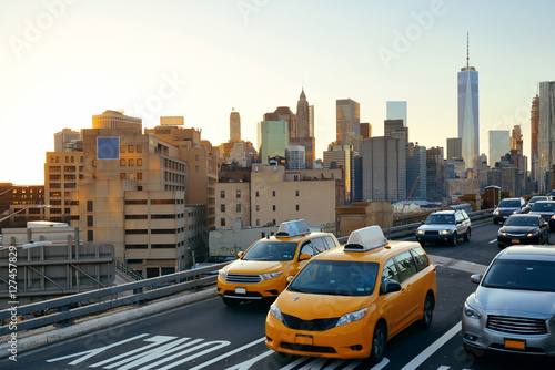 Poster New York TAXI Rush hour traffic
