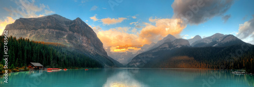 Deurstickers Blauw Banff National Park panorama