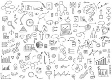 Hand Draw Doodle Elements Mone...