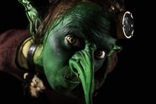Nahaufmame Gesicht Von Einem Goblin Oder Kobold