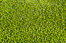 Green Glass Beads Background -...