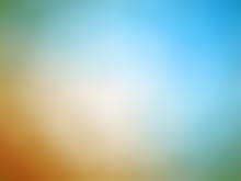 Abstract Gradient Orange Blue Colored Blurred Background