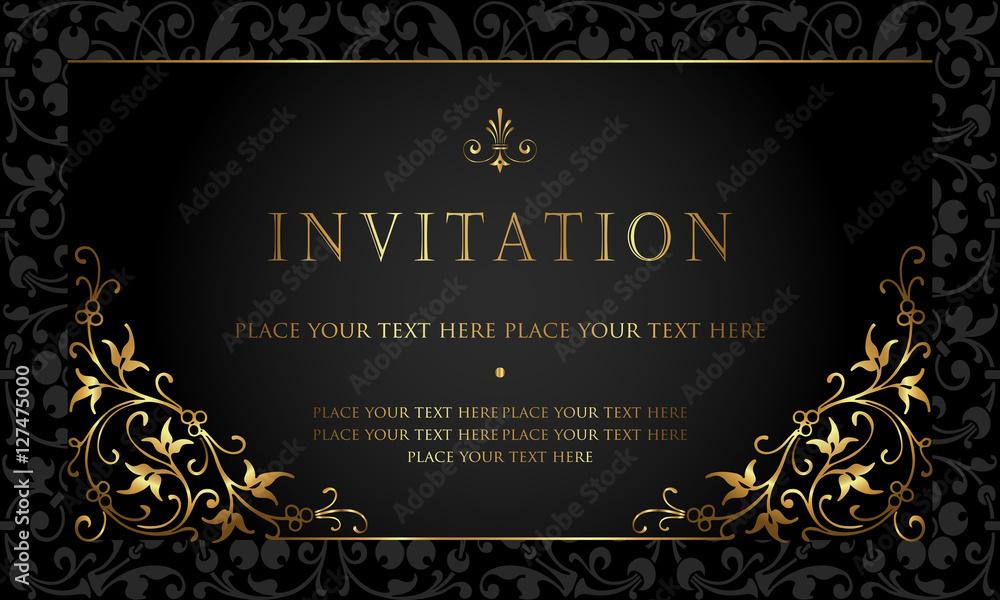 Fototapeta Invitation card design