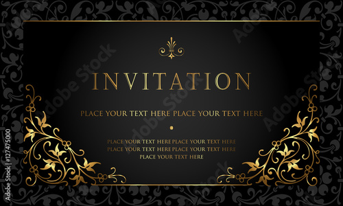 Fototapeta Invitation Card Design