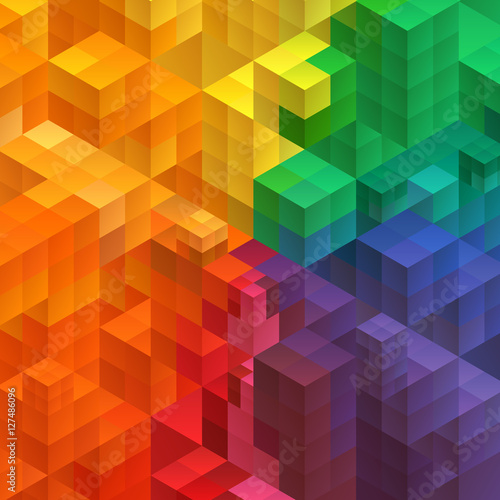 Abstract mosaic background from cubes