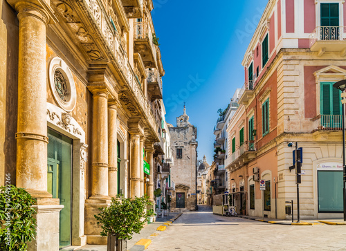 shopping streets of village in Southern Italy