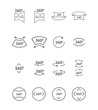 Simple set of icons can be used in various ways.