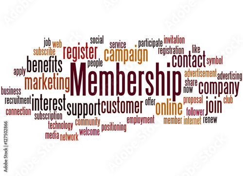 Fotografía  Membership, word cloud concept