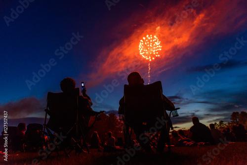 Fotografia  Cell Phone Fireworks