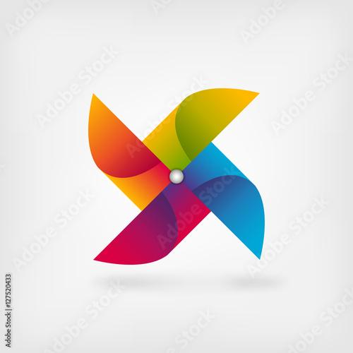 pinwheel symbol in rainbow colors Canvas Print