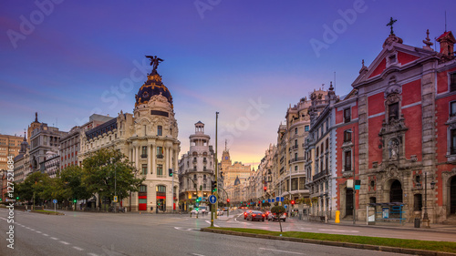 In de dag Madrid Madrid. Panoramic cityscape image of Madrid, Spain during sunrise.