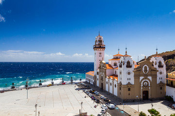 Candelaria Church, Candelaria, Santa Cruz de Tenerife, Tenerife, Canary Islands, Spain.