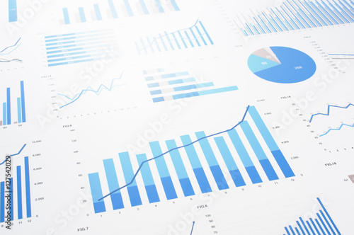 Papel de parede Many charts and graphs