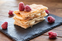Millefeuille With Cream And Ra...