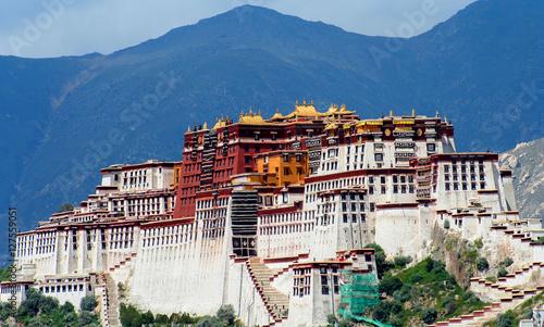Poster Lama Potala Palace in Tibet