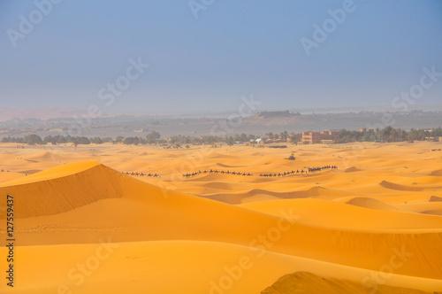 Tuinposter Algerije dunes in Sahara Desert