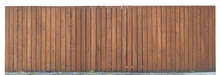 Solid Wooden Fence From Brown Vertical Boards