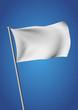 White flag waving vector