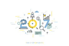 Infographic Concept 2017 Year ...