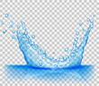 Transparent light blue crown from splash of water