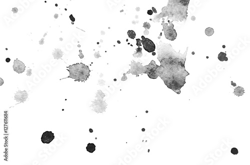 Leinwand Poster Abstract black watercolor background