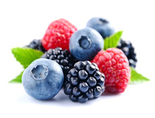 Sweet Berries Mix Isolated On ...