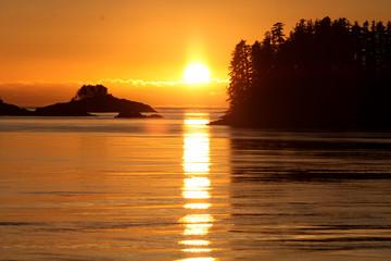 Fototapeta zachód słońca nad oceanem