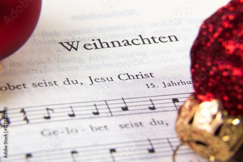 Valokuva  Weihnachten, Gesangbuch