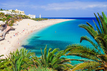 The Beach Playa De Morro Jable. Fuerteventura, Spain.